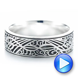 Custom Engraved Men's Band - Interactive Video - 103531 - Thumbnail