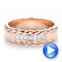 14k Rose Gold Custom Diamond Band - Video -  103532 - Thumbnail