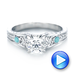 full engagement turquoise gold artemer trillion size p rings diamond carat from solid on ring