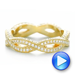 14k Yellow Gold 14k Yellow Gold Custom Eternity Diamond Wedding Band - Video -  103587 - Thumbnail