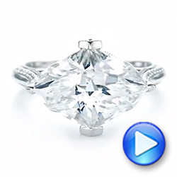 Custom White Sapphire and Diamond Fashion Ring - Interactive Video - 103591 - Thumbnail