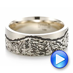 Custom Black Antiqued Engraved Men's Band - Interactive Video - 103613 - Thumbnail