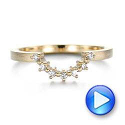 Custom Yellow Gold Diamond Wedding Band - Interactive Video - 103620 - Thumbnail