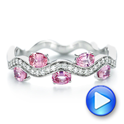 Pink Sapphire and Diamond Anniversary Ring - Interactive Video - 103626 - Thumbnail