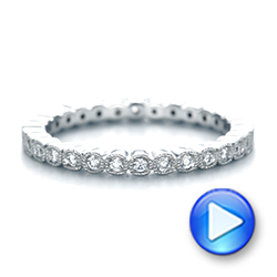 18k White Gold Bezel Set Diamond Eternity Wedding Band - Video -  103639 - Thumbnail