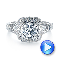 Diamond Halo Engagement Ring - Interactive Video - 103645 - Thumbnail