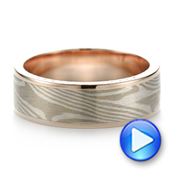 Custom Mokume Men's Band - Video -  103646 - Thumbnail