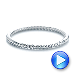 Braided Women's Wedding Band - Interactive Video - 103673 - Thumbnail