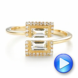 Green Amethyst and Diamond Fashion Ring - Interactive Video - 103677 - Thumbnail