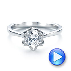 Peekaboo Diamond Solitaire Engagement Ring - Interactive Video - 103684 - Thumbnail