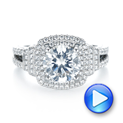 Double Halo Diamond Engagement Ring - Interactive Video - 103712 - Thumbnail