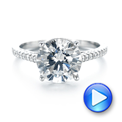18k White Gold Diamond Engagement Ring - Video -  103714 - Thumbnail