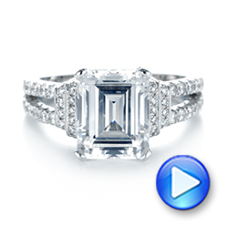 Emerald Diamond Engagement Ring - Interactive Video - 103715 - Thumbnail