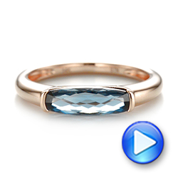 East-West London Blue Topaz Fashion Ring - Interactive Video - 103762 - Thumbnail