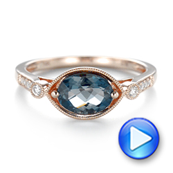 London Blue Topaz and Diamond Fashion Ring - Interactive Video - 103765 - Thumbnail