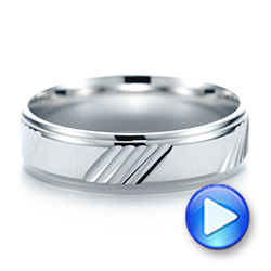 White Gold Men's Wedding Ring - Video -  103782 - Thumbnail