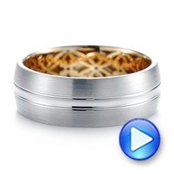 Two-tone Men's Wedding Band - Interactive Video - 103837 - Thumbnail