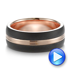 Modern Men's Carbon Fiber Wedding Ring - Video -  103838 - Thumbnail