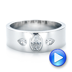 Custom Diamond Men's Wedding Band - Interactive Video - 103840 - Thumbnail