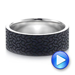 Carbon Fiber Inlay Wedding Band - Video -  103851 - Thumbnail