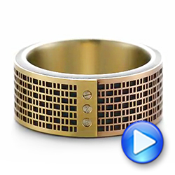 Tricolor Gold Wedding Ring - Interactive Video - 103860 - Thumbnail