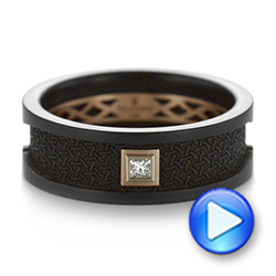 Carbon Fiber Wedding Ring - Video -  103862 - Thumbnail