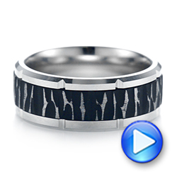 Tungsten Men's Wedding Band - Video -  103868 - Thumbnail