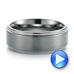 White Tungsten Men's Wedding Ring - Interactive Video - 103877 - Thumbnail
