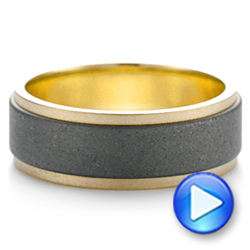 Tungsten Men's Wedding Band - Video -  103881 - Thumbnail
