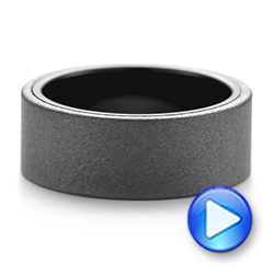 Raw Tungsten Carbide Men's Wedding Band - Interactive Video - 103883 - Thumbnail