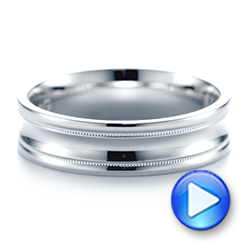 Men's Wedding Ring - Video -  103886 - Thumbnail
