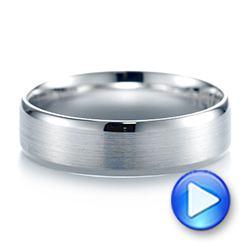 White Gold Men's Wedding Ring - Video -  103890 - Thumbnail