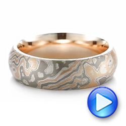 Mokume Wedding Ring - Interactive Video - 103891 - Thumbnail