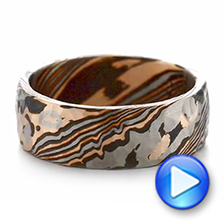 Men's Mokume Wedding Band - Video -  103893 - Thumbnail