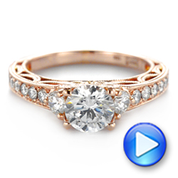 Filigree Diamond Engagement Ring - Interactive Video - 103896 - Thumbnail