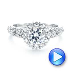 Halo Diamond Engagement Ring - Interactive Video - 103900 - Thumbnail