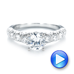 18k White Gold Diamond Engagement Ring - Video -  103905 - Thumbnail