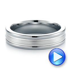 Tungsten Men's Wedding Band - Video -  103922 - Thumbnail