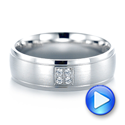 Men's Quad Diamond Wedding Band - Interactive Video - 103970 - Thumbnail