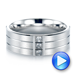 Men's Diamond Wedding Band - Video -  103975 - Thumbnail
