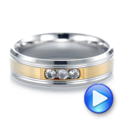 Men's Two-Tone Wedding Band - Interactive Video - 103976 - Thumbnail