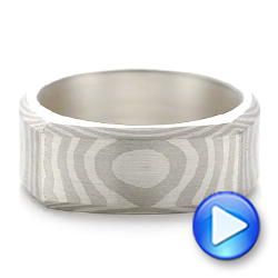 Custom Squared Mokume Pattern Ring - Interactive Video - 103985 - Thumbnail