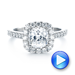 Cushion Halo Diamond Engagement Ring - Interactive Video - 103993 - Thumbnail