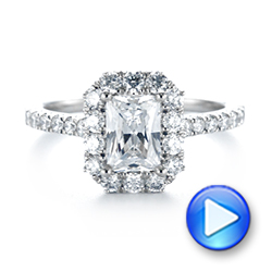 Emerald Halo Diamond Engagement Ring - Interactive Video - 103999 - Thumbnail