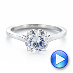 Solitaire Diamond Engagement Ring - Interactive Video - 104008 - Thumbnail