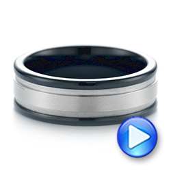 Black Tungsten Ring - Video -  104020 - Thumbnail
