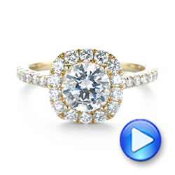 Halo Diamond Engagement Ring - Interactive Video - 104021 - Thumbnail