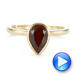 14k Yellow Gold Custom Ruby Solitaire Engagement Ring - Video -  104041 - Thumbnail