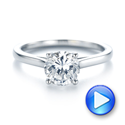 Platinum Platinum Solitaire Diamond Engagement Ring - Video -  104087 - Thumbnail