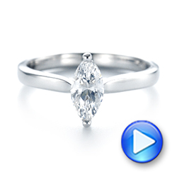Solitaire Marquise Diamond Engagement Ring - Interactive Video - 104097 - Thumbnail